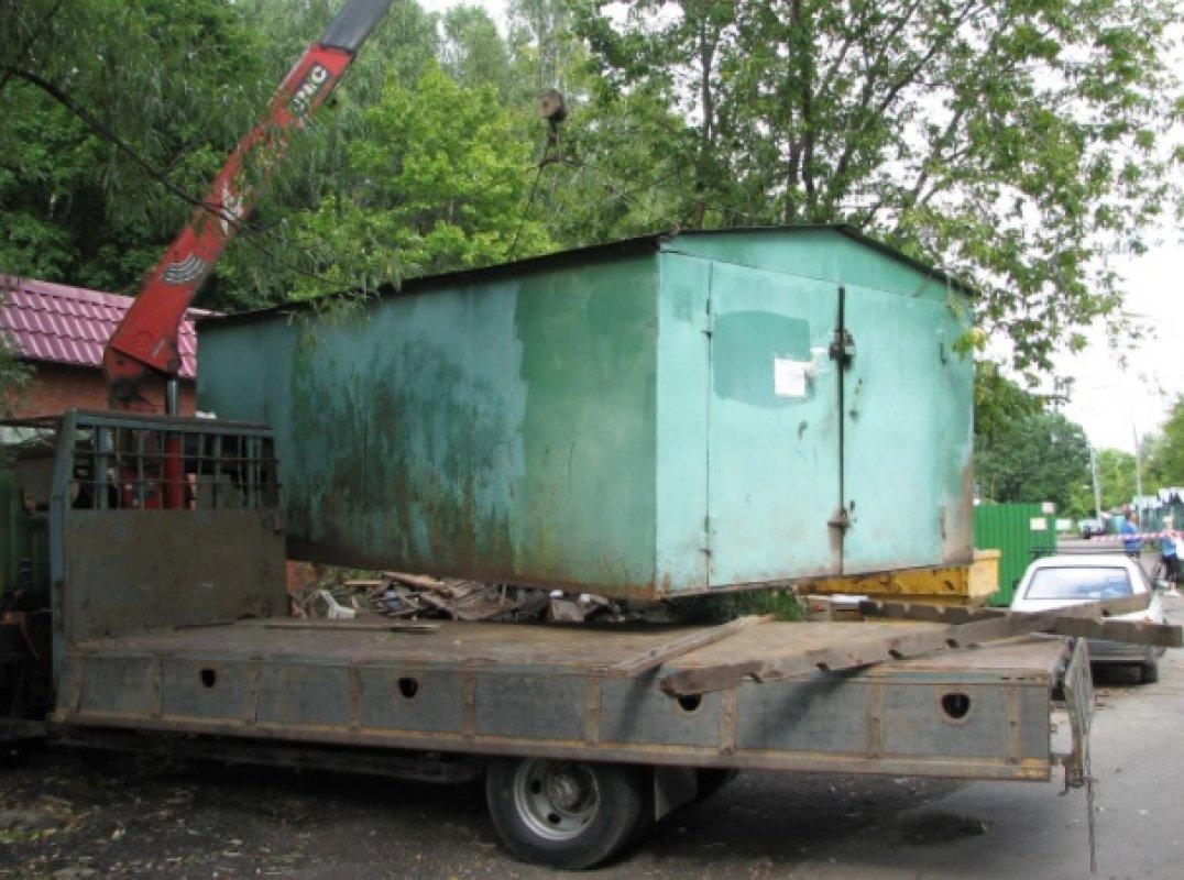 гараж для грузовика из сэндвич панелей